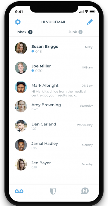 Hi visual voicemail for iPhone